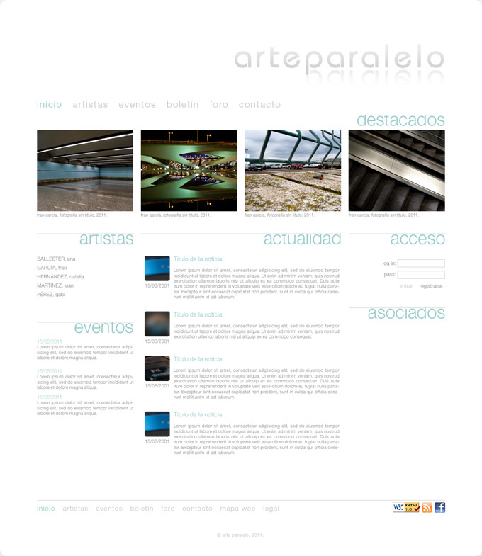 frenzy studio - Arte Paralelo web design